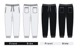 blanco y negro unisex de los pantalones del hombre Fotografía de archivo libre de regalías