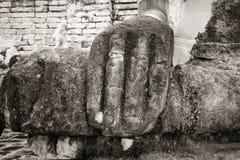 Blanco y negro viejo de Buda Foto de archivo libre de regalías