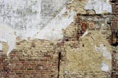 Blanco y pared de ladrillo de Grunge Imagen de archivo