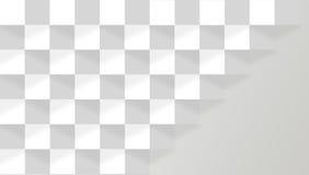 Blanco y traslapo gris Foto de archivo