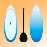 blancos azules se levantan el tablero de paleta Imagen de archivo