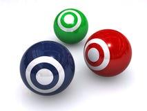 Blancos coloridas de la bola Fotos de archivo libres de regalías