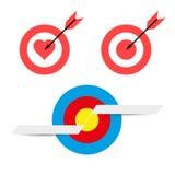 Blancos y flechas Blanco y banderas en blanco del texto Sistema de elementos del diseño del vector para usted diseño libre illustration