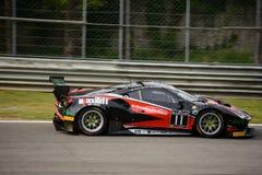 Blancpain GT serie Ferrari 488 ściga się przy Monza Zdjęcie Royalty Free