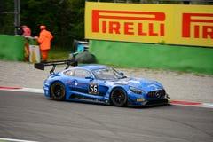 Blancpain GT serie Mercedes-AMG GT3 som springer på Monza Royaltyfri Bild