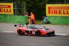Blancpain GT Series Ferrari 458 Italia racing at Monza. Kessel Racing Team faces the first race of the 2016 Blancpain GT Series Endurance Cup Stock Photo