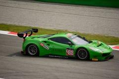 Blancpain GT Series Ferrari 488 racing at Monza