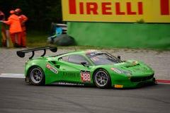 Blancpain GT Series Ferrari 488 racing at Monza Royalty Free Stock Photo
