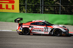 Blancpain GT Series Nissan GT-R Nismo racing at Monza. Nissan GT Academy Team RJN faces the first race of the 2016 Blancpain GT Series Endurance Cup Stock Image