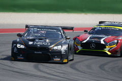 Blancpain GT Series Sprint Cup. Misano Adriatico, Italy - April 10, 2016: BMW F13 M6 GT3 of Boutsen Ginion Racing Team, driven by Matias Henkola and Maxime Royalty Free Stock Photography