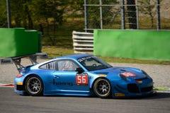 Blancpain-Reihe Porsche 2015 997 GT3 R in Monza Stockbild