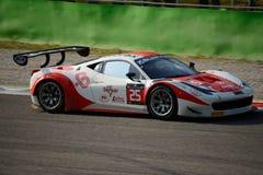 Blancpain serie Ferrari 2015 458 Italia GT3 på Monza Royaltyfri Foto