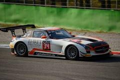 Blancpain Series 2015 Mercedes SLS AMG at Monza Royalty Free Stock Photo