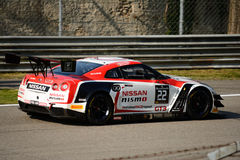 Blancpain Series 2015 Nissan GT-R Nismo GT3 at Monza Royalty Free Stock Photos