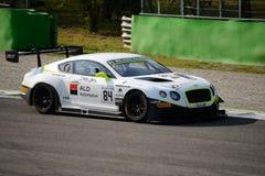 Blancpainreeks 2015 Bentley Continental in Monza Royalty-vrije Stock Fotografie