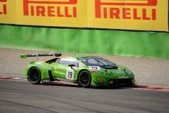 Blancpainreeks 2015 Lamborghini Huracan GT3 in Monza Stock Fotografie