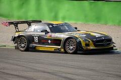 Blancpainreeks 2015 Mercedes SLS AMG in Monza Stock Foto's