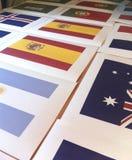 Blancs, calibres pour imprimer des drapeaux sur le tissu Processus de fabrication de sublimation Image libre de droits