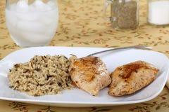 Blancs de poulet cuits au four photos stock