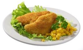 Blancs de poulet frit images libres de droits