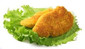 Blancs de poulet frit Photo stock