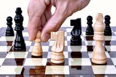 blancs de virage des échecs s de panneau Photos libres de droits