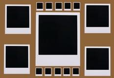 Blancs polaroïd de film Photos stock