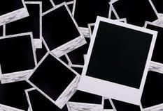 Blancs polaroïd de film Photographie stock libre de droits