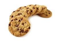 bland annat bana för 4 chipchokladkakor Arkivfoto