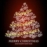 bland annat treevektor för jul eps8 Arkivfoton