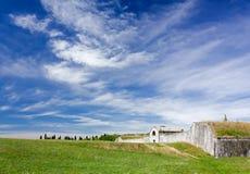 Bland befästningarna av Palmanova Royaltyfria Bilder