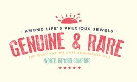 Bland dyrbara juvlar för liv` s äktt och sällsynt royaltyfri illustrationer