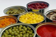 blanda bevarade grönsaker Arkivbild
