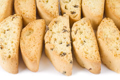 blandad biscotti isolerad white arkivbild