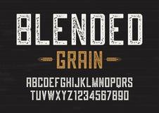 Blandad för Sans Serif för kornvektortappning design stilsort, boktryck royaltyfri illustrationer