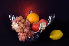 Stilleben med frukter Arkivfoton