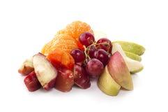 Blandad frukt som isoleras på vit bakgrund fotografering för bildbyråer