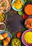 Blandad indisk mat royaltyfria foton