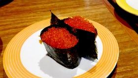 Blandad japansk mat som tjänas som i restaurangen Royaltyfria Bilder