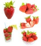 blandad jordgubbe arkivfoto