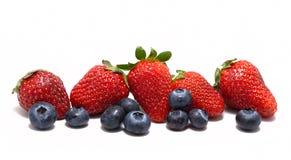 blandad jordgubbewhite för blåbär Arkivbilder