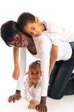Blandad-lopp familj Arkivfoto