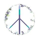 blandad målarfärg för vektor, förälskelse och fredsymbol Arkivbilder