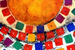 blandad målning för bakgrundsmedel Fotografering för Bildbyråer