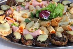 blandad matställedeltagareplatå Royaltyfria Bilder