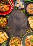 Blandad mexikansk matbakgrund Arkivbilder
