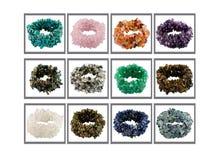 blandad multicolor sten för samling Arkivbild