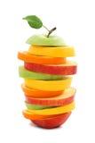 blandad orange för äpplefruktcitron arkivbild