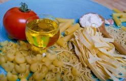 Blandad pasta Fotografering för Bildbyråer