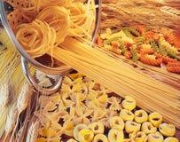 blandad pasta Arkivbild